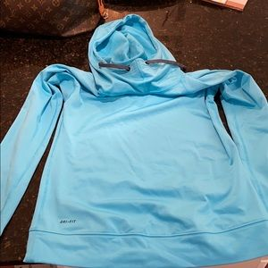 Blue nike pro hoodie warm